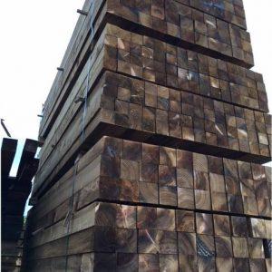 Sawn wooden posts