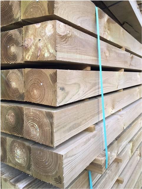 UC4 wooden posts
