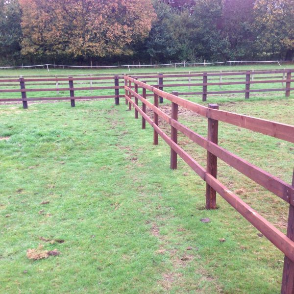 post and rail fencing