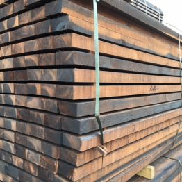 Creosote treated fence rails