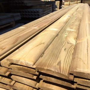 Pressure treated softwood cladding