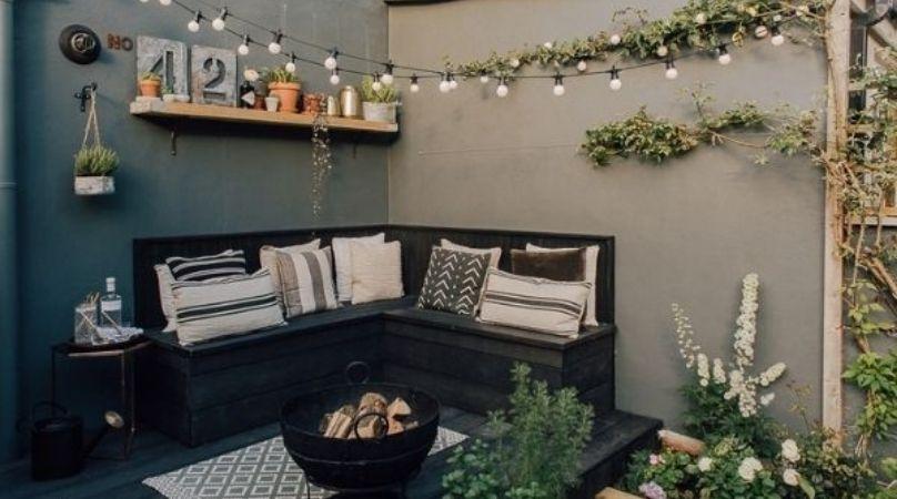 Indoors outdoor grey garden