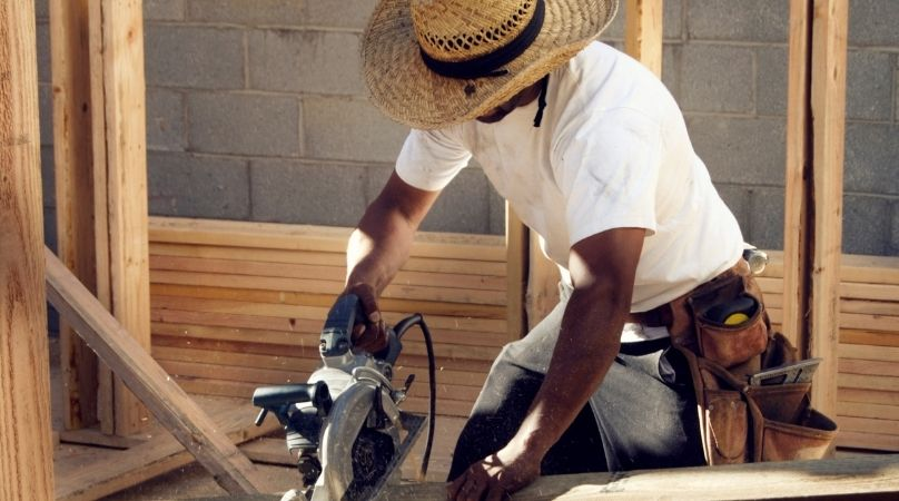cutting timber