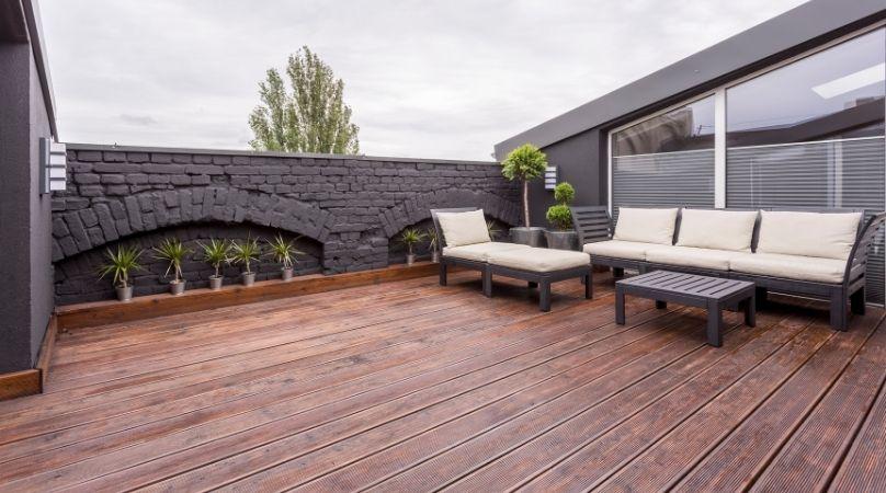 decking in garden